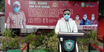 Ketua Gugus Tugas Covid-19 Kabupaten Kotawaringin Timur, H Supian Hadi menyampaikan perkembangan penanganan Covid-19 di wilayah setempat, Minggu (3/5/2020)