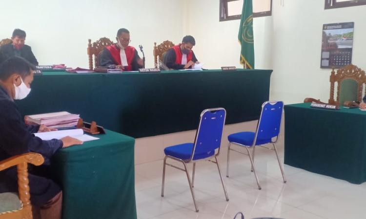 Suasana sidang pelaku pencabulan di PN Tamiang Layang
