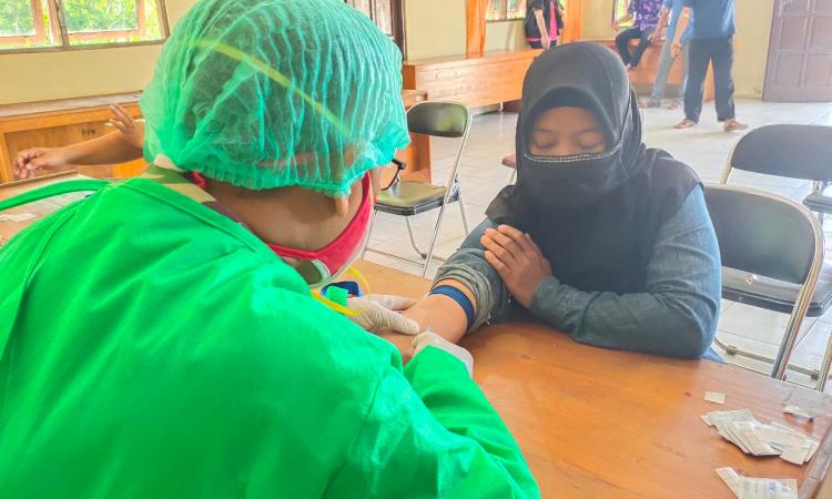 Proses jalannya rapid test di Kecamatan Sabangau