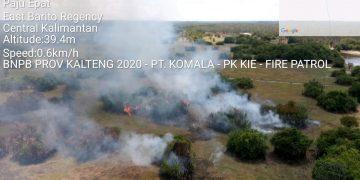 Tim Patroli Udara menemukan firespot di Telang, Paju Epat, Barito Timur