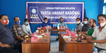 Suasana rapat harian DPW PAN Kalteng dipimpin oleh Ir. H. Achmad Diran Sabtu (19/9/2020)