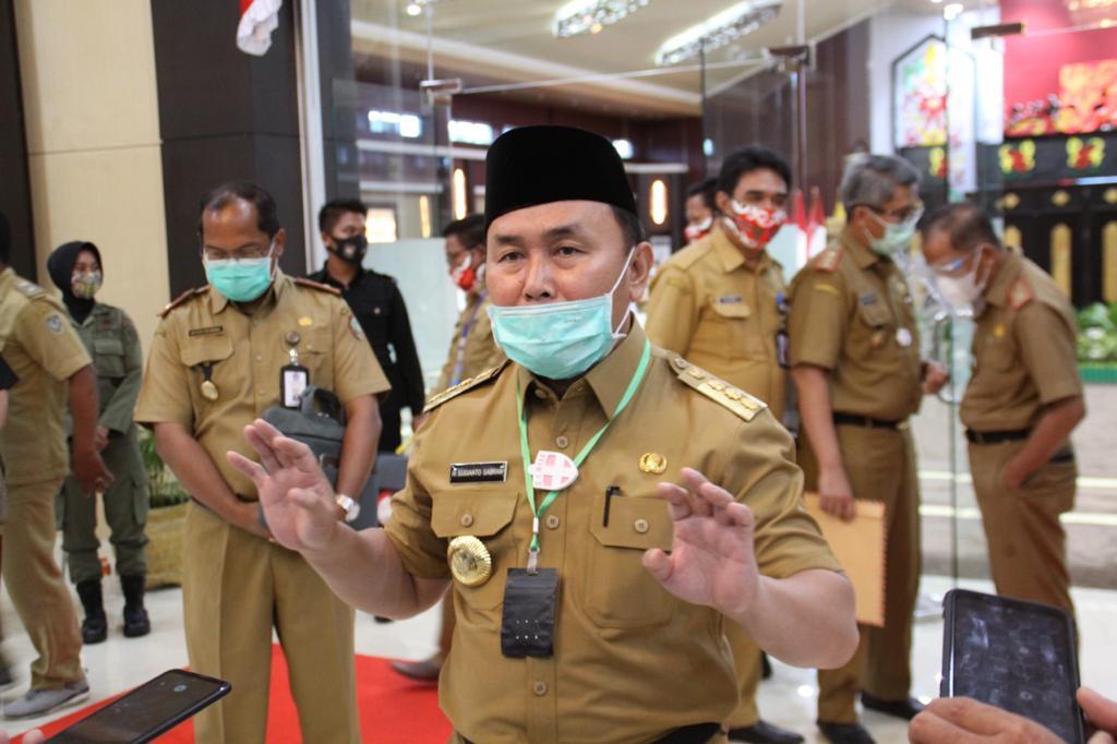 Gubernur H. Sugianto Sabran, usai kegiatan di Aula Jayang Tingang (AJT), kantor Pemprov, Selasa (22/9/2020)