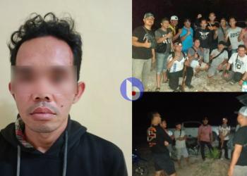 Polsek Banama Tingang mengamankan pelaku penganiayaan kurang dari 1 x 24 jam di Sei Habungen, Kecamatan Banama Tingang, Kabupaten Pulang Pisau, Kamis (17/9/2020)