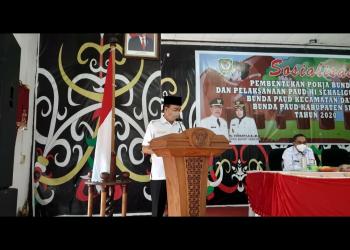 Bupati Seruyan, Yulhaidir saat memberikan sambutan, Rabu (21/10/2020) lalu