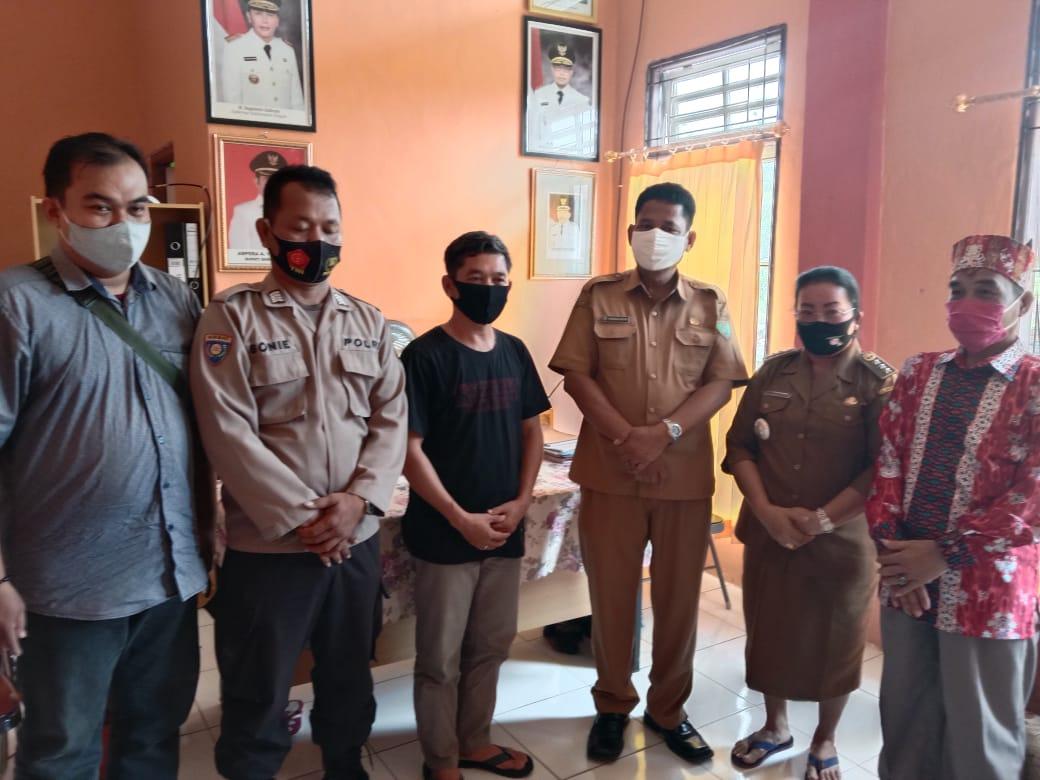 Pemerintah Desa Kandris Kecamatan Karusen Janang Kabupaten Barito Timur dan perusahaan pertambangan CV. Mandiri Jaya Makmur (MJM) usai mediasi, Selasa (17/11/2020)
