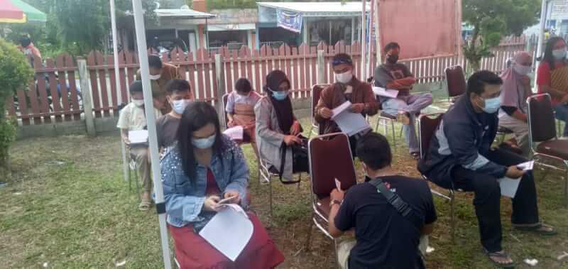 Pelaksanaan vaksinasi Covid-19 tahap III, di Rumah Sakit Umum Daerah (RSUD) Kuala Kurun Jalan A. Yani 43 Kuala Kurun, (12/7/2021)