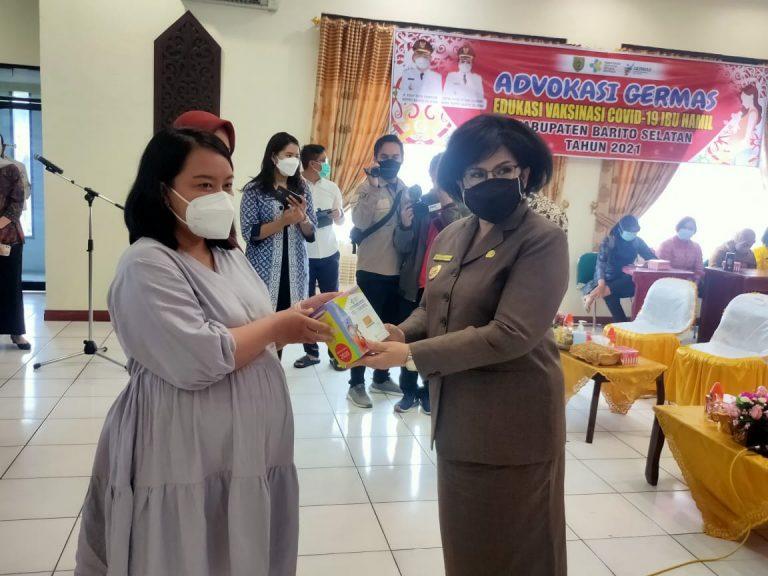 Pelaksanaan vaksinasi Covid-19 jenis moderna kepada Ibu Hamil (Bumil) yang ada di Kabupaten Barito Selatan