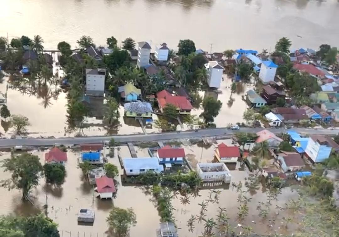 Kondisi banjir saat ini di Kalteng