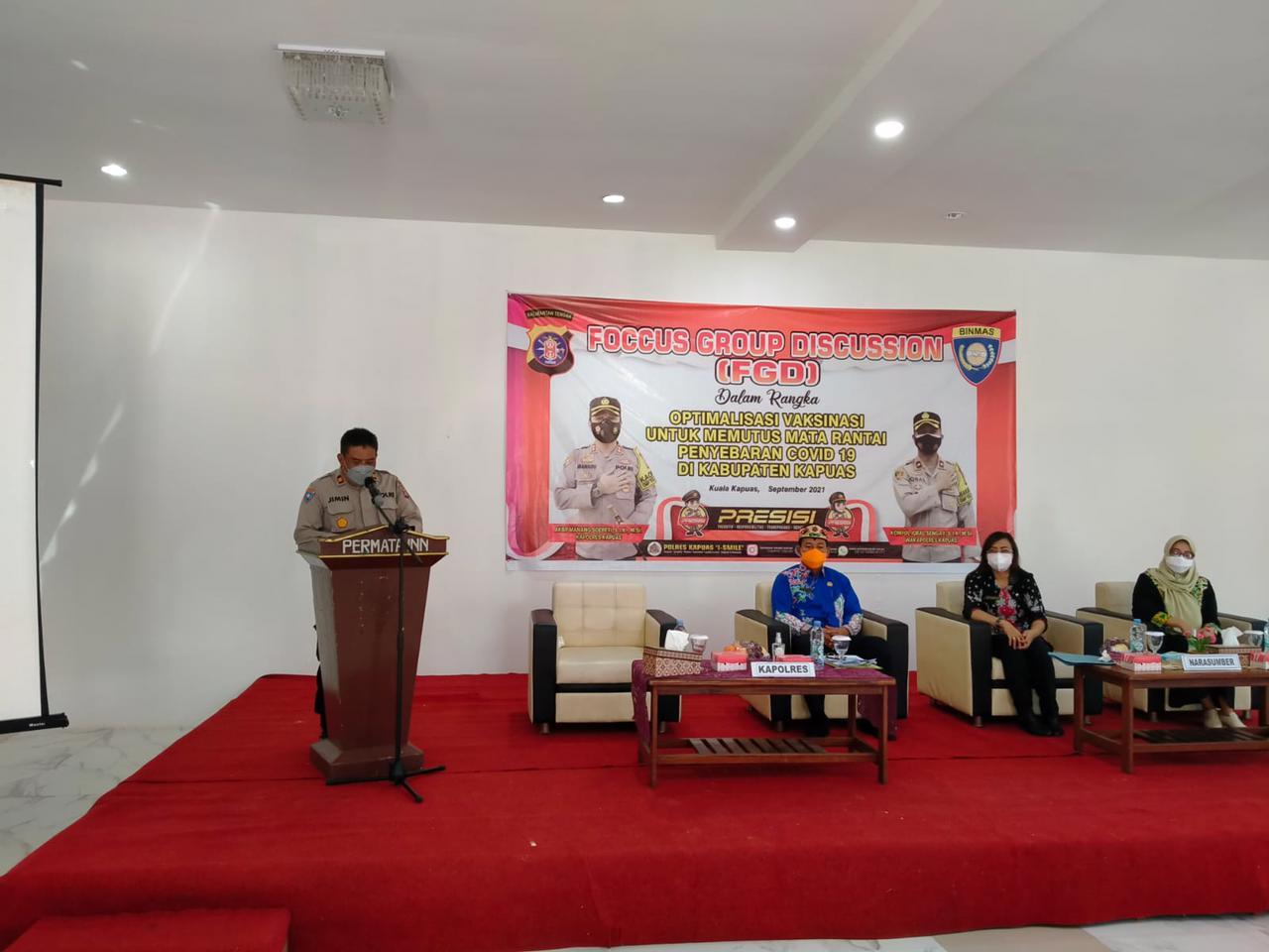 Kasat Binmas saat menyampaikan sambutan dalam pembukaan kegiatan FGD