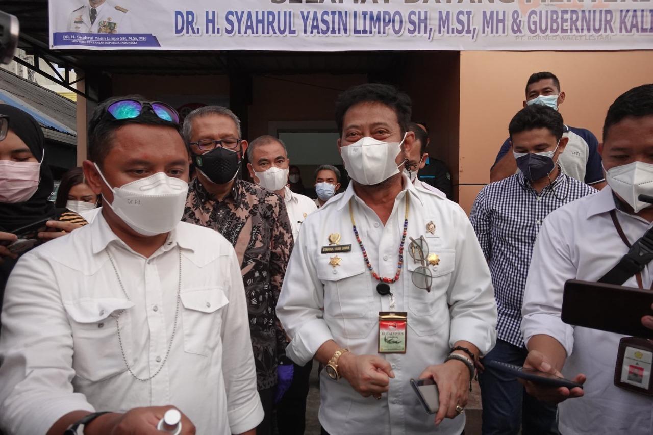 Menteri Pertanian RI, Syahrul Yasin Limpo saat meninjau Rumah Walet Milik PT. Borneo Walet Lestari, Sabtu (11/9/2021)