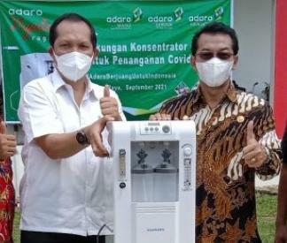 Acara serah terima bantuan dari pihak Adaro Metcoal Companies berupa Oksigen Konsentrator ke pihak RSUD Puruk Cahu, di halaman RSUD Puruk Cahu, Kamis (9/9/2021)