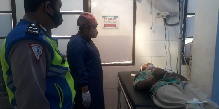 Korban Endang Supriyanto ketika berada di RS Bhayangkara