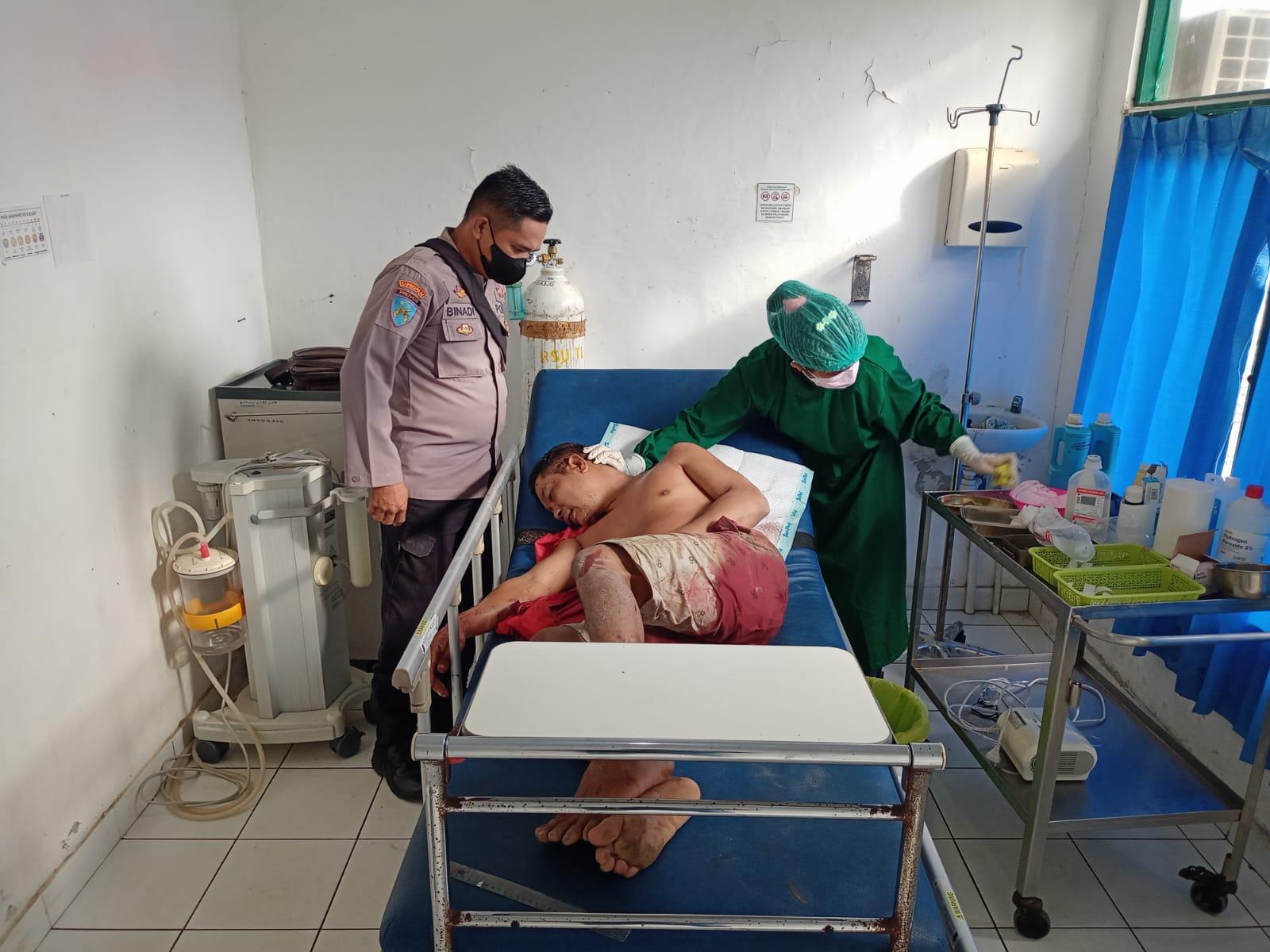 Korban saat dirawat di RSUD Tamiang Layang