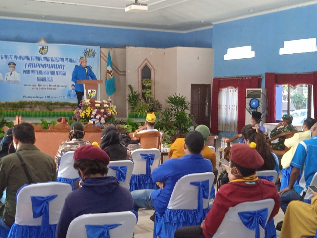 Pelaksanaan pembukaan rapat pimpinan Paripurna daerah pemuda Kalimantan Tengah